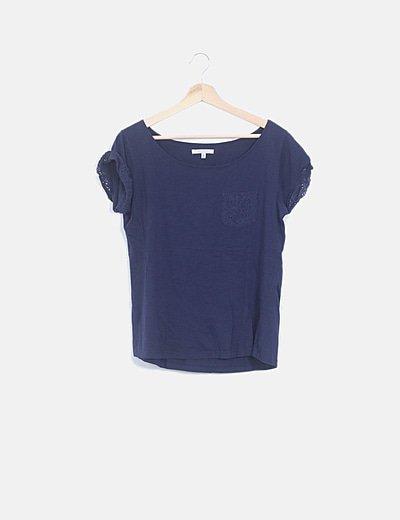 Camiseta combinada crochet
