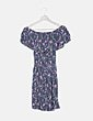Vestido bardot print floral Women'secret