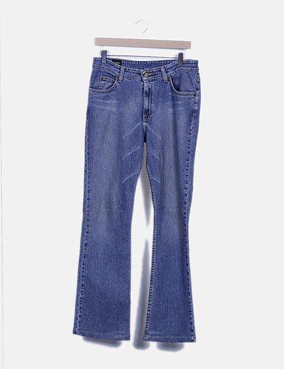 Pantalón denim recto básico