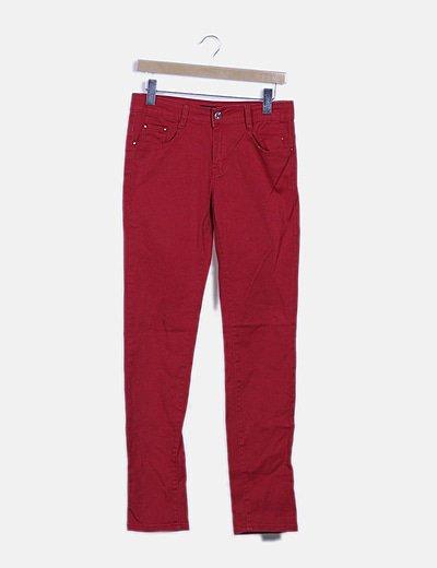 Jeans skinny rojo