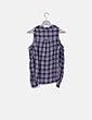 Camisa asimétrica soft hand de cuadros H&M