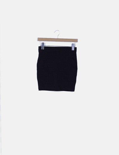 Mini falda negra elástica