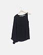 Blusa negra detalle cadena Suiteblanco
