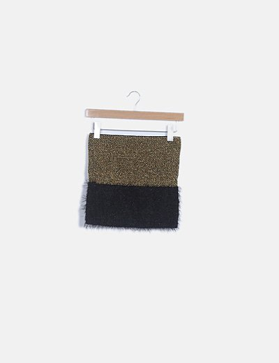 Falda bicolor glitter
