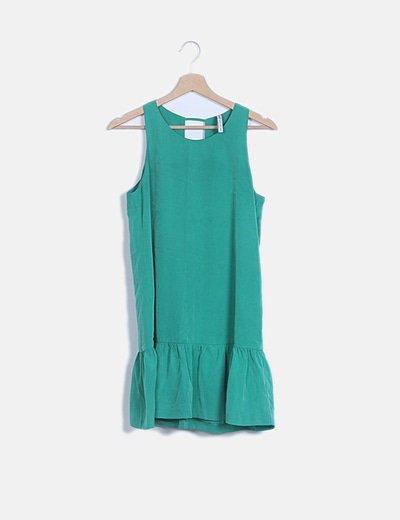 Vestido fluido verde
