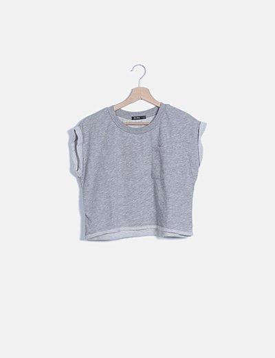 Camiseta gris felpa