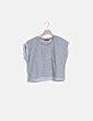 Camiseta gris felpa Bershka