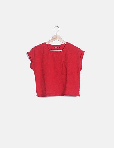 Camiseta felpa roja