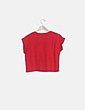 Camiseta felpa roja Bershka