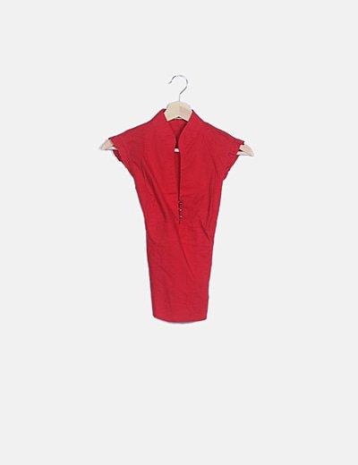Blusa roja manga ondas