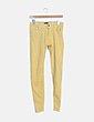 Jeans denim amarillo pitillo Bershka