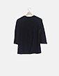 Suéter negro plisado manga larga vackpot