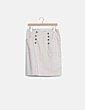 Falda midi beige botones H&M