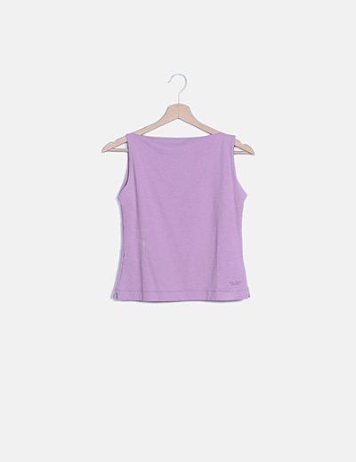 Camiseta lila basic