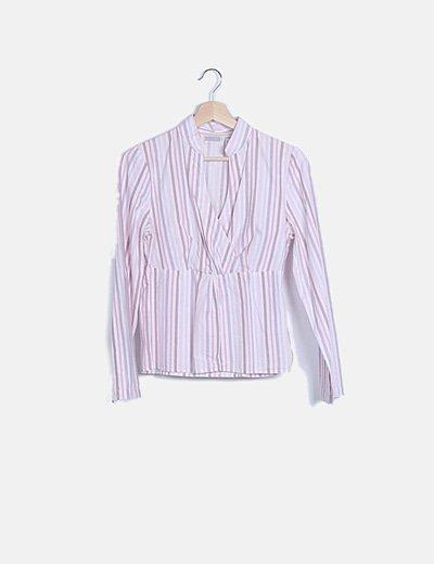 Blusa rayas multicolor manga larga