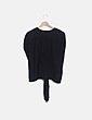 Camiseta drapeada negra Zara