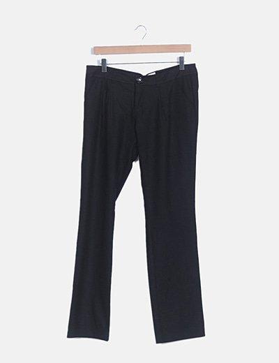Pantalón chino pinas negro