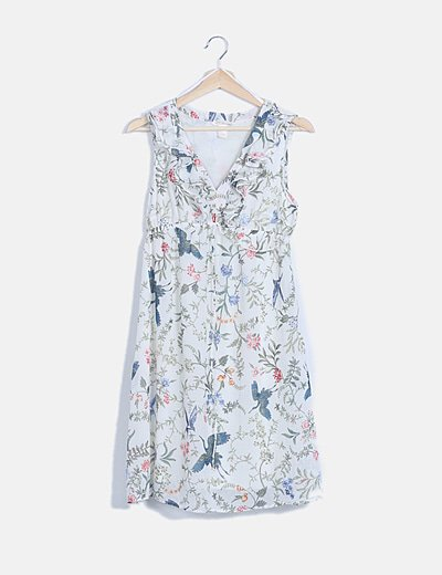 Vestido mini floral premamá