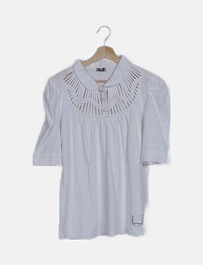 Camiseta blanca escote tiras