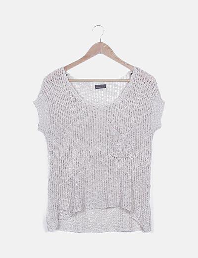 Camiseta tricot beige