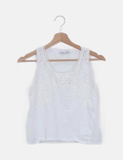 Camiseta blanca combinada tul