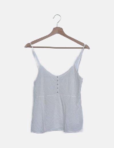 Blusa blanca lencera moteada