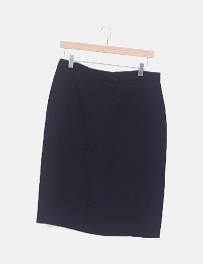 Falda midi negra fluida