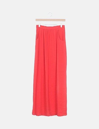 Falda maxi coral goma cintura