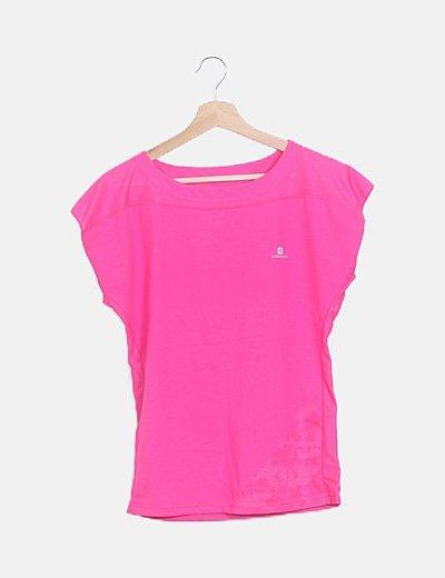 Camiseta rosa fucsia deportiva