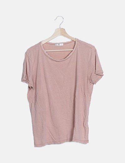 Camiseta manga corta efecto ripped