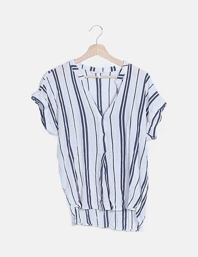 Camisa texturizada rayas