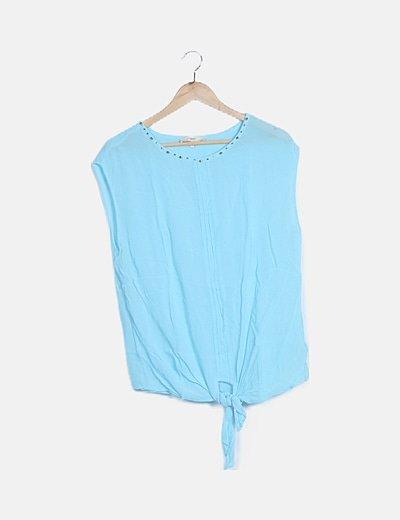 Blusa gasa azul celeste