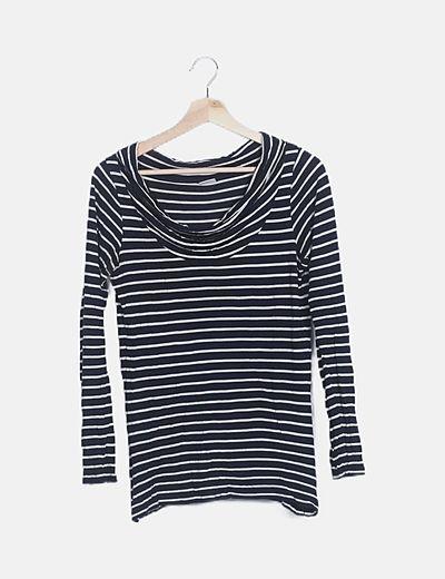 Camiseta rayas escote barco