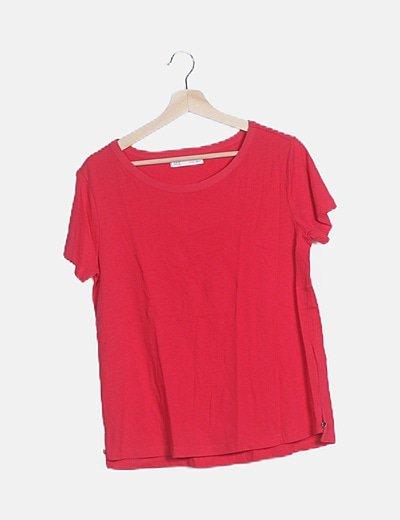 Camiseta básica manga corta roja