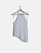 Blusa blanca halter troquelada Zara