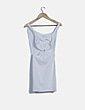 Vestido blanco texturizado con aberturas Bershka