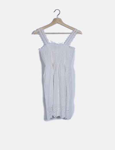 Vestido guipur blanco triantes crochet