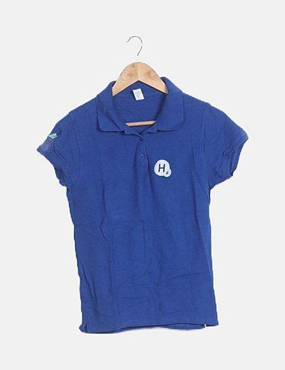 Suéter azul electico manga corta