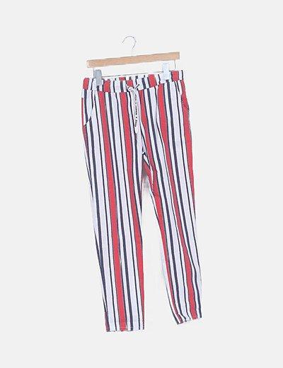 Pantalón baggy rayas glitter