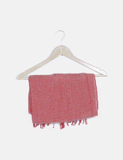 Foulard rojo de flecos