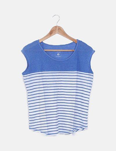 Camiseta rayas azul klein