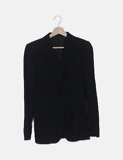 Blazer negra botones manga larga