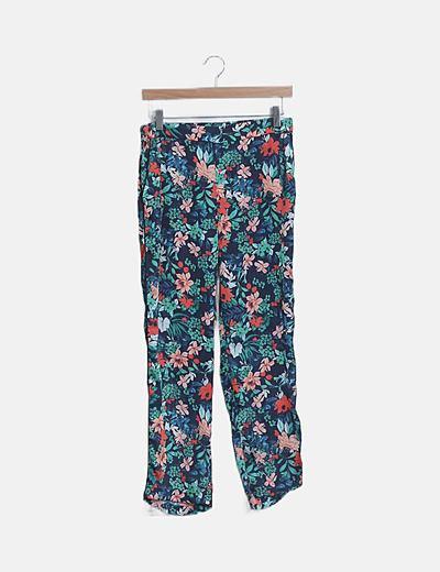Pantalón satinado floral
