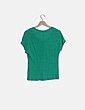 Camiseta manga corta verde Pull&Bear