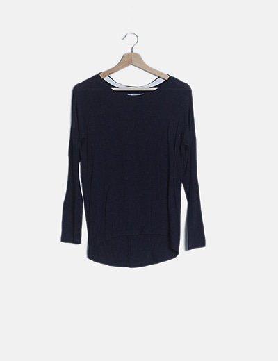 Camiseta tail hem azul marino
