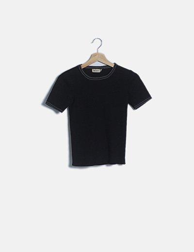 Camiseta tricot negra