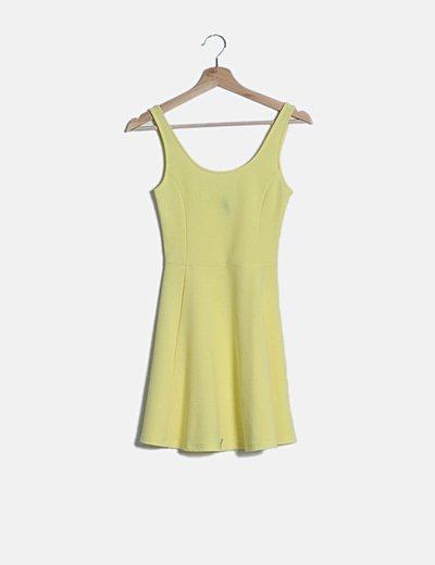 Vestido mini amarillo evase
