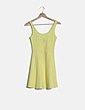 Vestido mini amarillo evase H&M