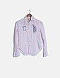Camisa rosa palo detalles escote bocha