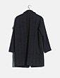 Abrigo de paño gris espiga Pull&Bear